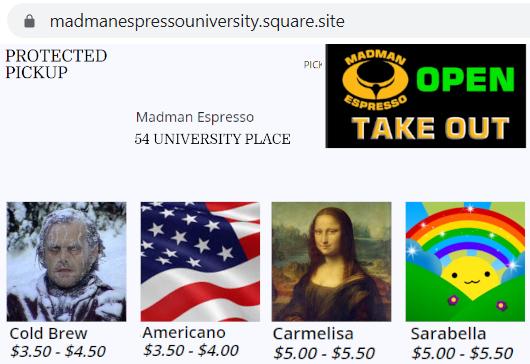 NYU学生街の雰囲気の良いカフェ、Madman Espresso(マッドマン・エスプレッソ)_b0007805_04415151.jpg