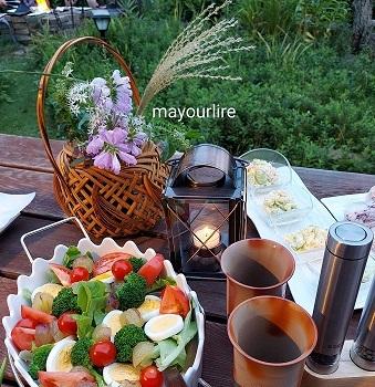 庭でバーベキュー♪_d0169179_00231058.jpg