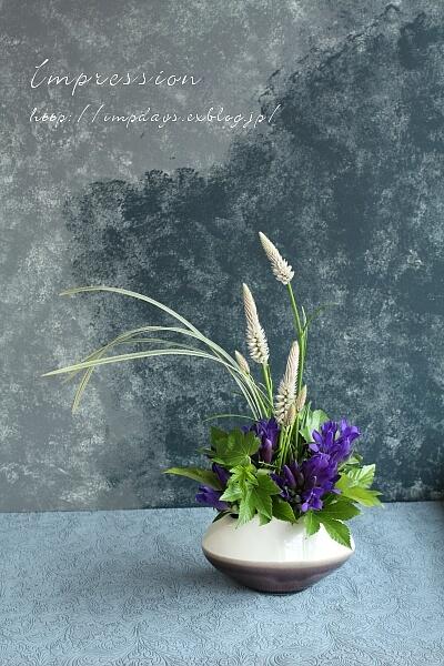 定期装花から りんどう:青光_a0085317_16115694.jpg