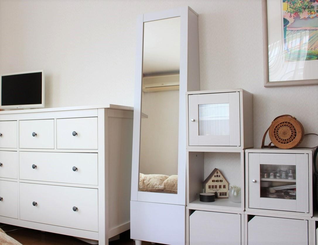 楽天セールで寝室の鏡台を「収納付きドレッサー」に模様替え。一人暮らしのインテリアにもお勧めです_f0023333_11072333.jpg