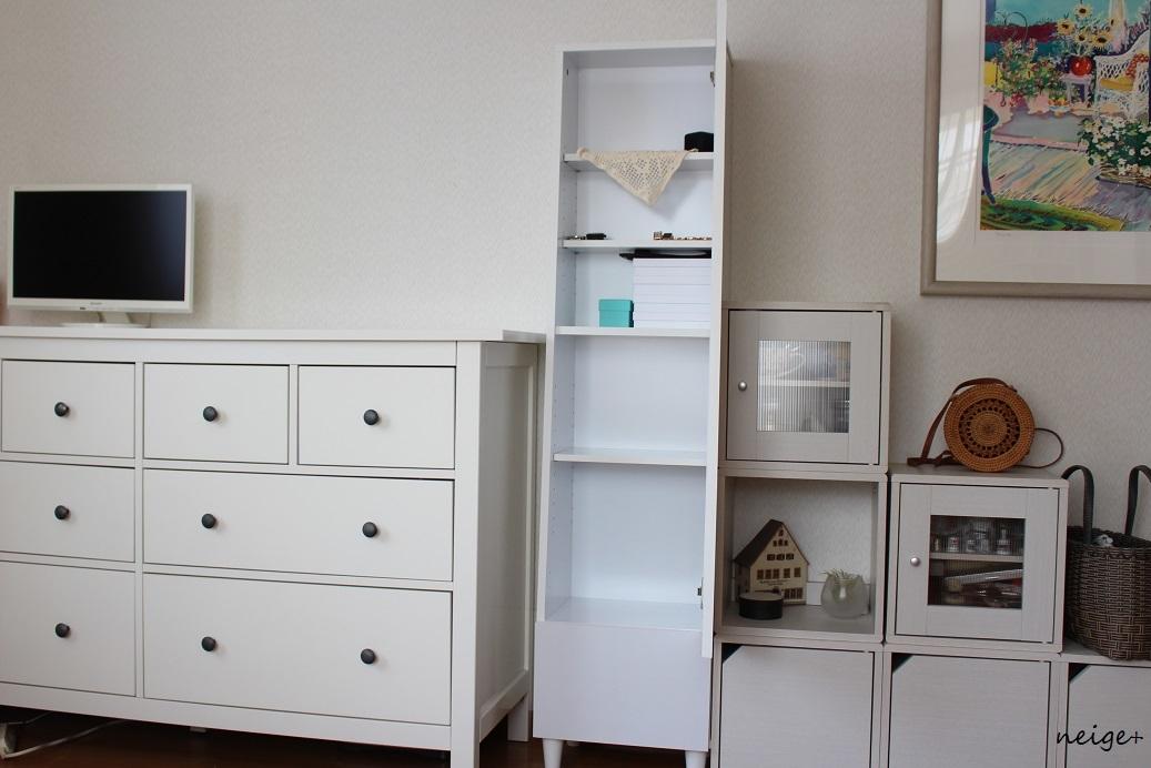 楽天セールで寝室の鏡台を「収納付きドレッサー」に模様替え。一人暮らしのインテリアにもお勧めです_f0023333_11300558.jpg