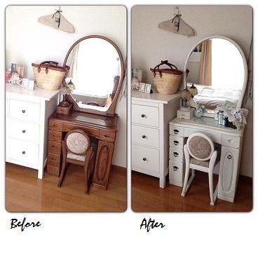 楽天セールで寝室の鏡台を「収納付きドレッサー」に模様替え。一人暮らしのインテリアにもお勧めです_f0023333_11473329.jpg