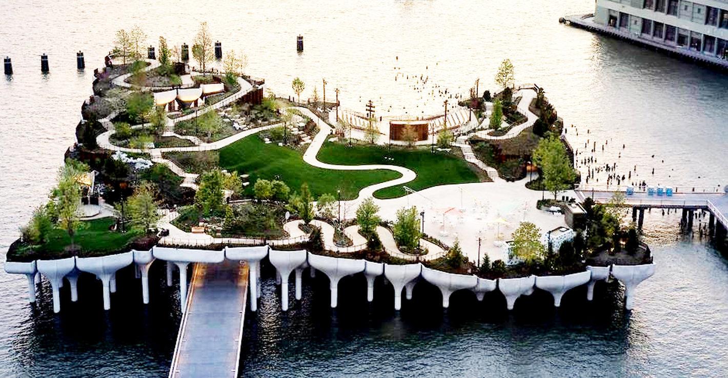 空中公園ハイラインから見る水上公園リトル・アイランド_b0007805_06180788.jpg