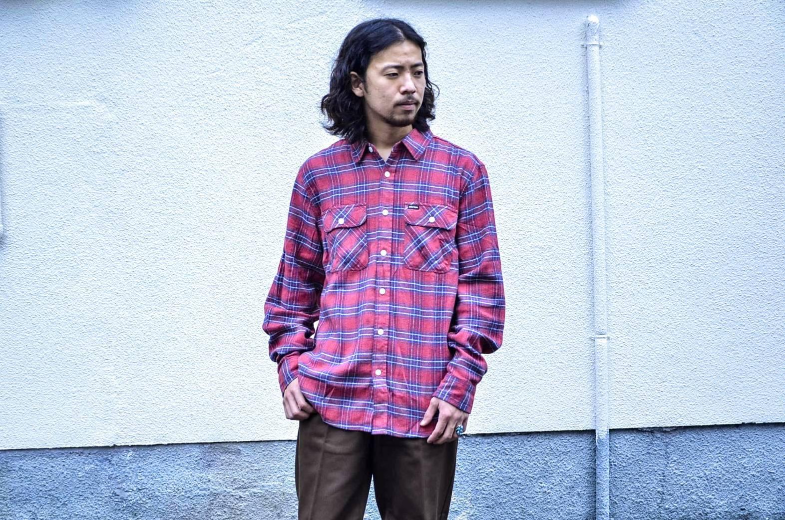 BRIXTONのネルシャツが良い!!_c0167336_22075200.jpg