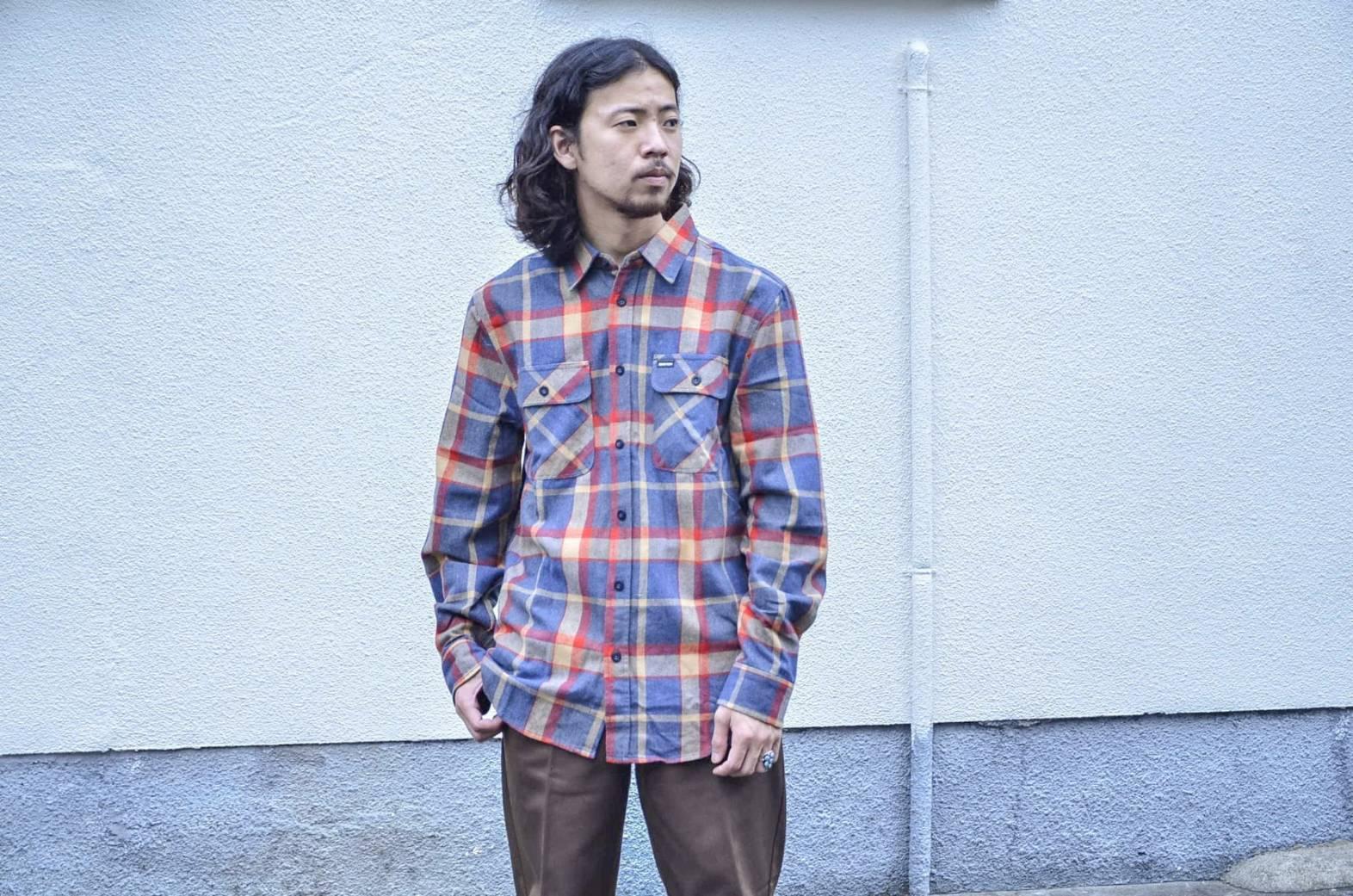 BRIXTONのネルシャツが良い!!_c0167336_22075236.jpg