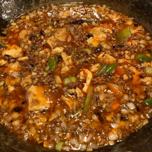 渾身の麻婆豆腐、上質の唐辛子は旨いが先に来る。_a0334793_02183753.jpg