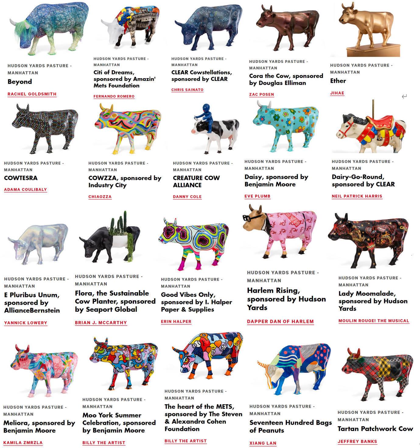 アメリカならではの「牛のアートで寄付集め」、Cow Parade 2021_b0007805_01554792.jpg