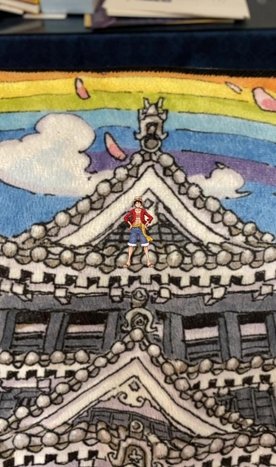 熊本城に立つルフィ_a0163623_00413262.jpg