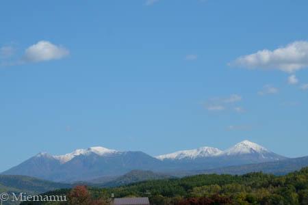 冠雪の大雪連峰~10月の東川_d0340565_20234369.jpg