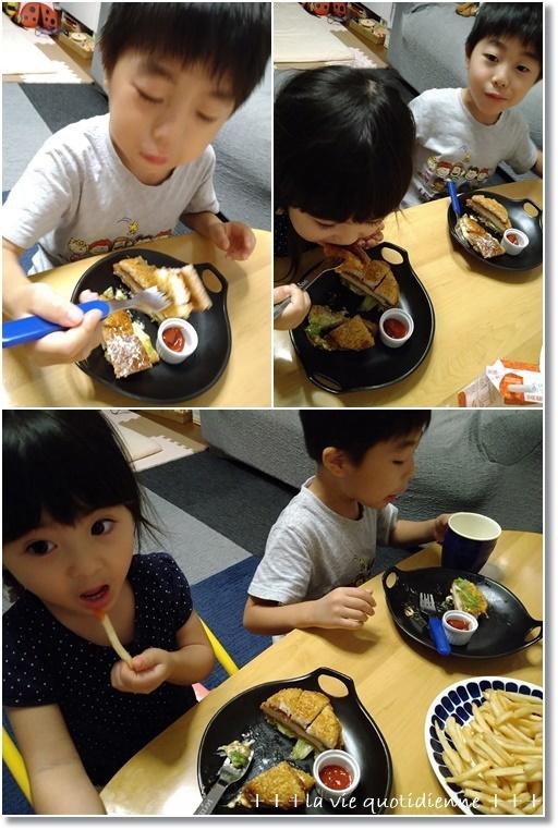 【マクドナルド】夕方5時~限定3種類ごはんバーガー食べたよ♪と子供の想像力_a0348473_07253827.jpg