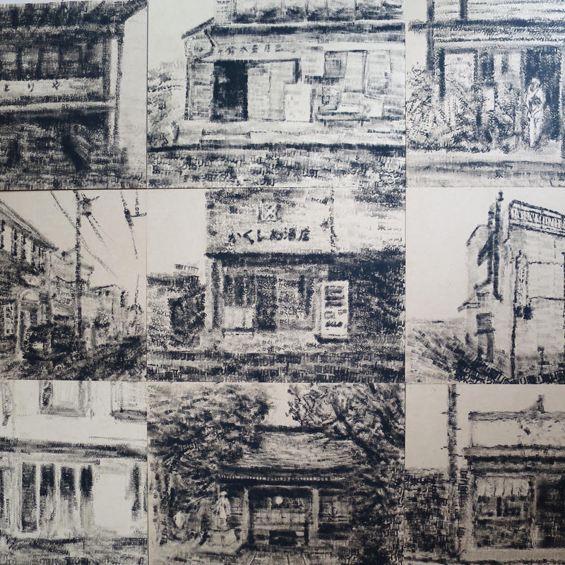 東リ町アートフェスへハンコアート11点を搬入_c0060143_00005790.jpg