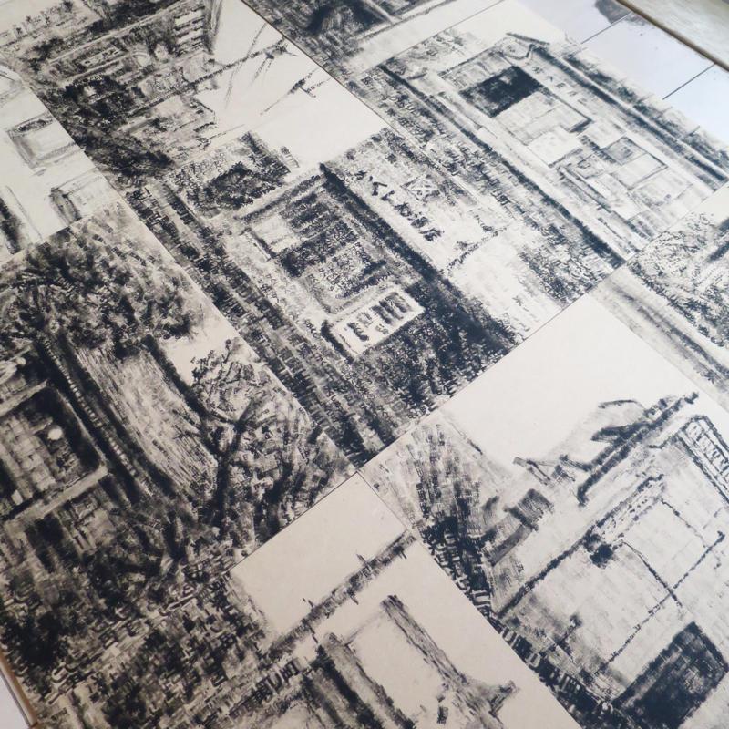 東リ町アートフェスへハンコアート11点を搬入_c0060143_00014638.jpg