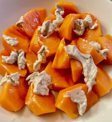 ポークチョップと季節の果物でおつまみ_f0012916_17555703.jpeg