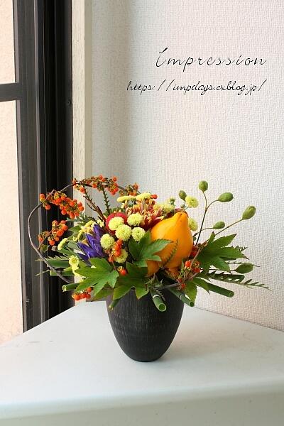 定期装花から 姫りんご・フォックスフェイス_a0085317_13491706.jpg