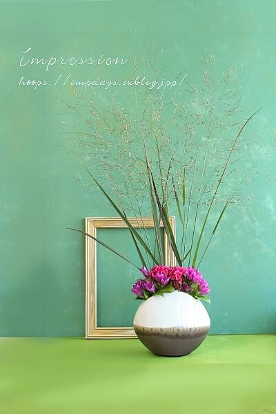 定期装花から リンドウ:レッドワン_a0085317_13501569.jpg