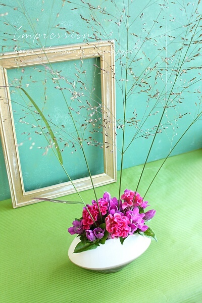 定期装花から リンドウ:レッドワン_a0085317_13501870.jpg