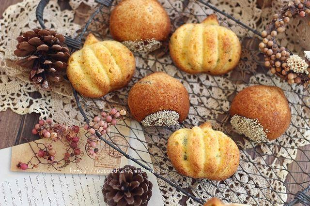 秋の味覚の焼き菓子♪栗&かぼちゃのケーキ(*^^*)_a0134594_10055672.jpg