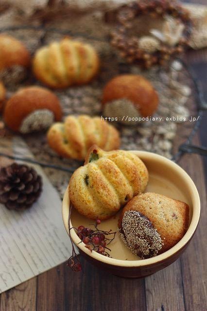 秋の味覚の焼き菓子♪栗&かぼちゃのケーキ(*^^*)_a0134594_10061412.jpg