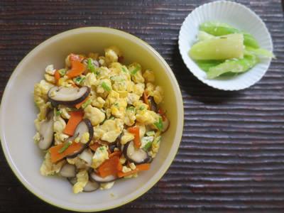 野菜天と炒り豆腐_e0262651_17570210.jpg