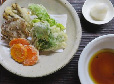 野菜天と炒り豆腐_e0262651_17571438.jpg
