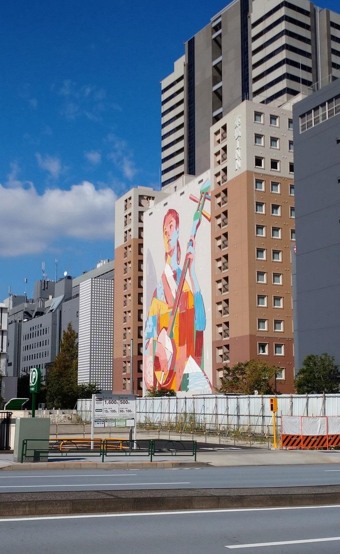 """天王洲の壁画 ARYZ ≪\""""The Shamisen\"""" Sinagawa 2019≫_c0002171_21074350.jpg"""