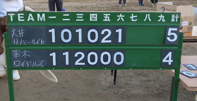 第20回 富田林ロータリー旗争奪少年野球大会  第14日目  10/17_c0309012_09464237.jpg