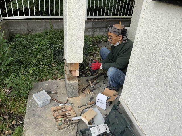 民間工事・シロアリ消毒と柱・・んがっ・・_f0031037_19462675.jpg