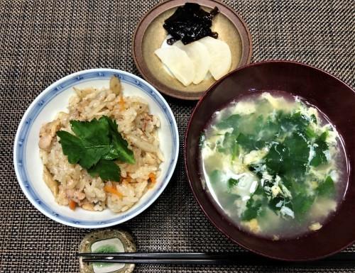 炊き込みご飯を食べて 午後は農作業に励む_a0346704_17412595.jpg