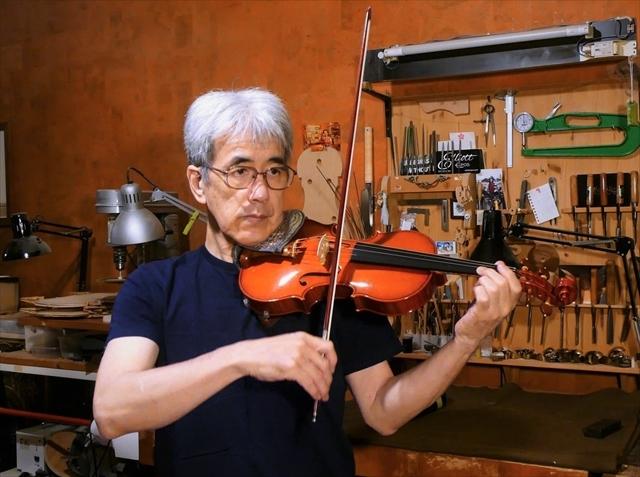 最新作ヴァイオリン、音のテスト。_d0047461_16262602.jpg