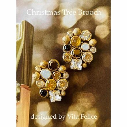 新作★クリスマスツリーブローチ_b0310144_19292821.jpg