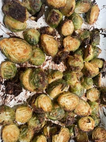 芽キャベツのDijonマスタードローストとエノキのジョン風と冷凍野菜のロースト_f0012916_19204146.jpeg