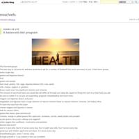 A balanced diet program - mischiefs
