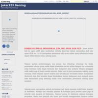 MENEKUNI DASAR CARA BERMAIN GAME SLOT ONLINE - Joker123 Gaming