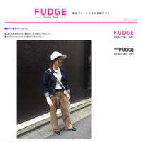 FUDGE Online Storeバイヤーブログはじめました。 - FUDGE Online Store