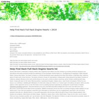 Help Find Hack Full Hack  Engine Hearts ? 2K19 - Evan Graham