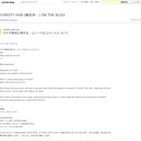 CHRISTY HAN (韓永仲・한영중) - CHRISTY HAN (韓永仲・한영중)  ON THE BLOG